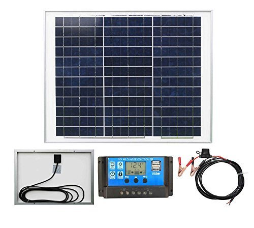 30w Poly-Crystalline Solar Panel Battery Charging Kit with Charger Controller K1. For Caravans, Motorhomes, Boats & Any Flat Surface