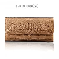 DYY Long, large-capacity ladies wallet with wallet,Golden,2 fold