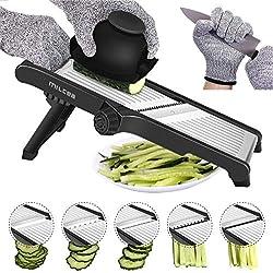 Cortador de mandolina de acero inoxidable, cortador de mandolina para patatas