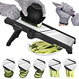 Mandoline Slicer,Stainless Steel Mandoline Slicer Adjustable Kitchen Food Mandolin Vegetable Julienne Slicer