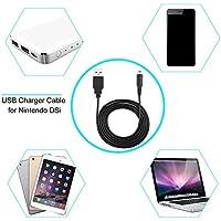 Dailyinshop Charge Charing Cable de Alimentación USB Cable Cargador para Nintendo 3DS DSi NDSI XL (Color Negro)