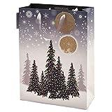 Five Dollar Shake, Luxus-Geschenktasche, Shopper, Größe 36 x 27,5 x 12,5 cm, Weihnachtsbäume GLO5