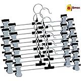 Bmax™ Steel Clip Cloth Hanger, Pack Of 12
