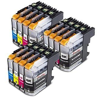 12 Druckerpatronen Komp. für Brother LC223xl LC-223 LC225 XL für Brother MFC-J4420DW J4620DW J4625DW J5320DW J5620DW J5720DW J5625DW J480DW DCP-j4120DW