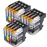 Alaskaprint 12er Set Druckerpatronen Kompatibel für Brother LC223xl LC-223 LC 223 LC225 LC227 xl für Brother MFC-J4420DW MFC-J4620DW MFC-J4625DW MFC-J5320DW MFC-J5620DW MFC-J5720DW MFC-J5625DW MFC-J480DW DCP-j4120DW DCP-j562DW Tintenpatronen