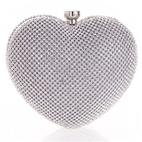 Herzen M Dchen Weibliche Ergeob Handtasche Taschen Form Silber