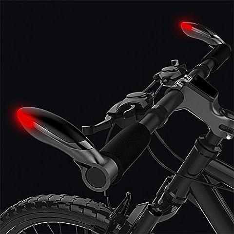 West Radfahren Lenker Bar End Griff Drehen Signal Bike Light–Aluminium MTB BMX Handschutz Fahrrad Lenkergriffe Griffe