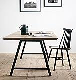 milanari Massivholztisch Esstisch Eiche schwarze Metallbeine 200x100x74 cm