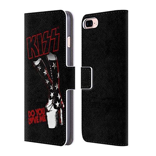Ufficiale KISS Peter Criss Solo 2 Cover a portafoglio in pelle per Apple iPhone 7 Plus / 8 Plus Do You Love Me