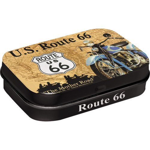 Nostalgic-Art 81122 US Highways - Route 66 Map, Pillendose
