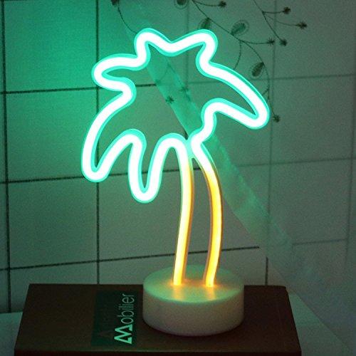 Light Sign mit Boden für Home Party Geburtstag Schlafzimmer Nachttisch, Tisch Dekoration Kinder Geschenke Palm Tree ()