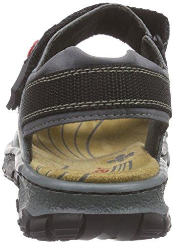 Rieker 68851 Women Open Toe Damen Offene Sandalen Blau (whitedenim/jeans / 12)