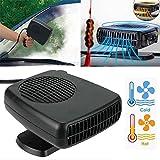 Ventilateur portable de voiture en céramique de 12V pour refroidissement, chauffage, dégivrage et désembuage par Funwill