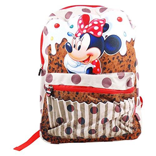 Disney minnie muffin - zaino reversibile per bambini - 40cm - colore: multicolor