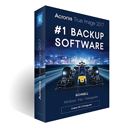 Acronis True Image 2017 - 3 Computer - Wiederherstellungs-cd Windows 7