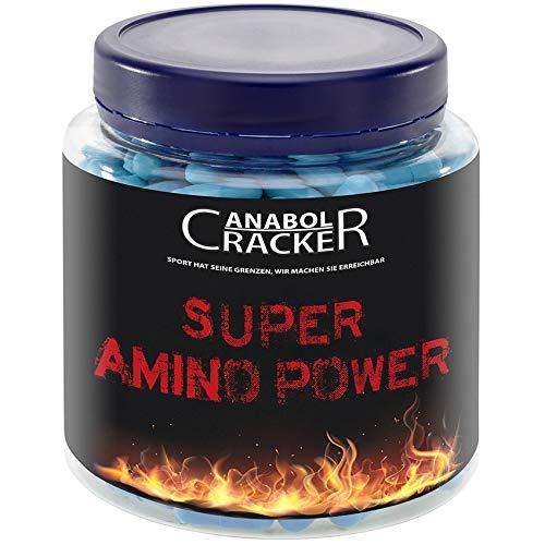 Super Amino Power, 350 Kapseln, stärkste Aminosäuren, Bcaa/L-Glutamin, L-Arginin, L-Tyrosin - Premium Qualität