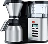 Melitta Aroma Elegance, 1012-01, Filter Coffee Machine with Glass Jug, Black/Brushed Steel
