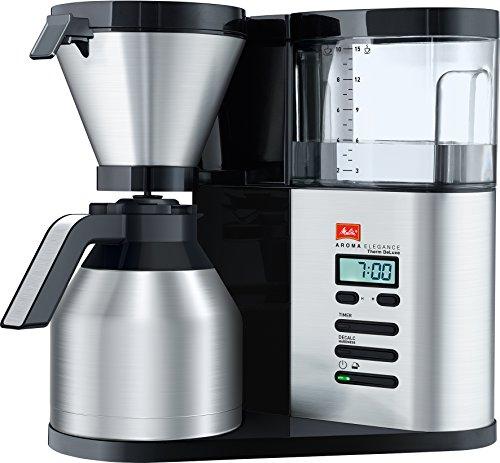 Melitta AromaElegance DeLuxe 1012-06, Filterkaffeemaschine mit Thermkanne, Aroma Control,...