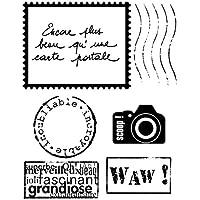 Artemio 10020035 Mini Tampon Transparent Carte Postal Plastique Multicolore 8,5 x 0,3 x 17 cm