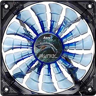 Aerocool Shark 12cm Quad LED 15 Blade Fluid Dynamic Bearing Fan - Blue (B00432T2JQ) | Amazon price tracker / tracking, Amazon price history charts, Amazon price watches, Amazon price drop alerts