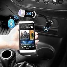 iKross Multifunción Transmisor Radio Stereo con Llamadas a Manos Libres Bluetooth y Puerto de Carga para SmartPhones, iPhones, Tablets y más