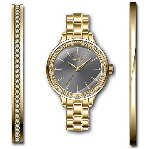 Invicta Angel Reloj de Mujer Cuarzo Correa y Caja de Acero dial Gris 29314