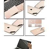 Kemket Full Body Skin adhesivo 4en 1–Vinilo Protectora para MacBook Pro con Retina Display, Kemket Protector de pantalla para Apple Mac Book portátil, incluyen superior Skin + inferior Skin + Trackpad Skin + Protector, fácil de instalar y de Auto Absorción