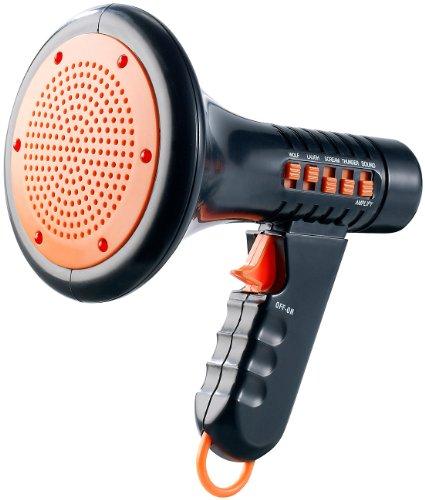 zerrer: Halloween-Megaphone mit 4 Grusel-Sounds- ideal für Kinderpartys etc. (Stimmverzerrer) (Kleine Kunststoff-megaphone)