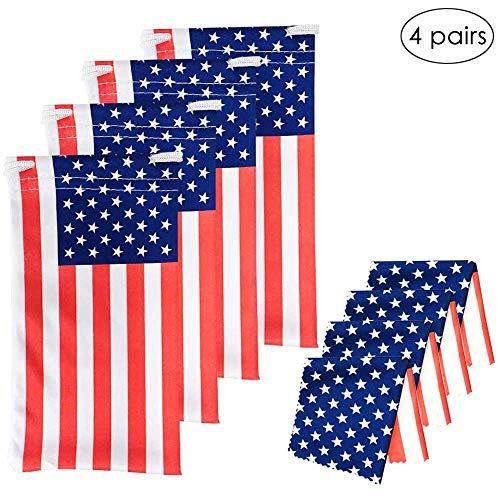 Usa Brillentaschen/Brillenetuch, amerikanische Flagge, 4 Stück