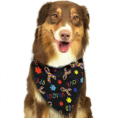 Für Singapur Jungen Kostüm - nxnx Dog Bandana Autism Special Love Pet Scarf Triangle Bibs Kerchief Set Pet Costume Accessories Decoration for Small Medium Large Dogs Cats Pets