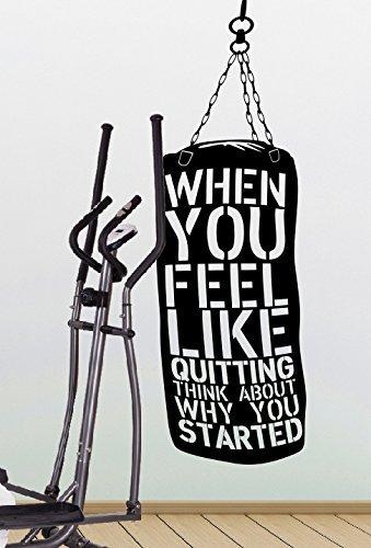 Preisvergleich Produktbild spb87 Wenn Sie fühlen wie Beenden Think About,  Warum Sie Schritte – Crossfit Gym Fitness Motivation Zitat Wand Vinyl Aufkleber Aufkleber Art Decor DIY