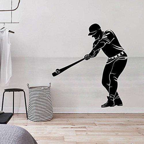 JWJQTLD Wandaufkleber,Baseball Charakter Wall Sticker Boy Persönlichkeit Kreative Aufkleber, Wohnzimmer Schlafzimmer Tv Hintergrund Wand Und Anderen Glatten Wänden -