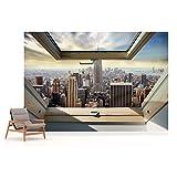 New York Skyline Der Stadt 3D-Dachfenster-Ans...Vergleich