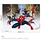 Marvel Spider-Man Fototapete Tapete Dekoshop Marvel Spiderman AD1274P8 (368cm x 254cm) Photo Wallpaper Mural