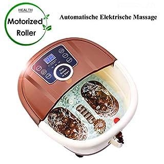 ANCHEER Fußbad Spa/Fussbad Wanne mit Massage Heizung Vibrations und Sprudelmassage Pediküre-Aufsätzen Fußreflexzonenmassage Elektrisch Fußbad Massagegert Große Füße