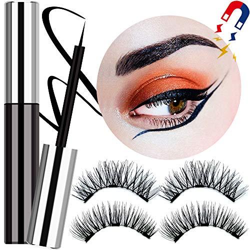 Magnetic Eyeliner Eyelashes Kit - DR.MODE Magnetic Eyeliner Wasserdichter Langlebiger Mit Magnetischen Falschen Wimpern, Hochfester Magnetischer Eyeliner Kompatibel für Andere Magnetische Wimpern
