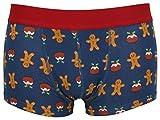 Tom Franks Uomo Novità Natale HIPSTER boxer pantaloncini - blu pan di zenzero, X-Large