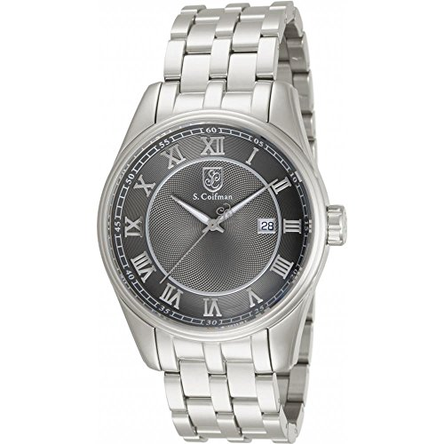 S Coifman SC0099 Mens Silver Steel Bracelet Watch