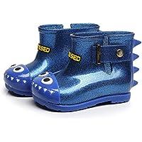 ZODOF Niño Impermeable de Goma de tiburón Infantil Bebé Botas de Lluvia Niños Niños Zapatos de Lluvia Vintage Calzado Deportivo Running Zapatos Ligero