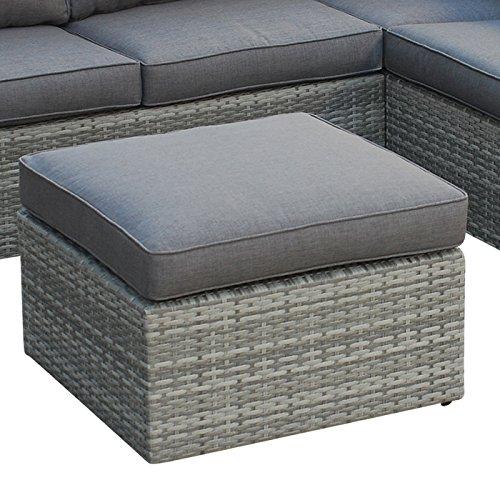 POLY RATTAN Sitzgruppe Sofa Lounge Set grau - 4