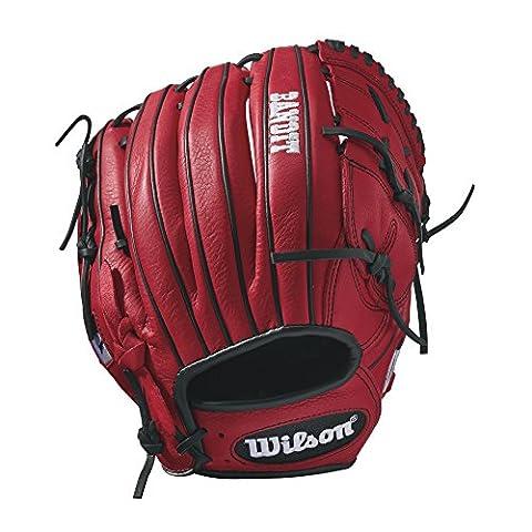 Wilson Bandit B212Baseball Handschuh, rot (Infielders Glove)