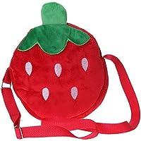 EOZY- Borsa a Tracolla Frutti per Bambini di Panno Floccaggio misura circa 19*19*3.5cm