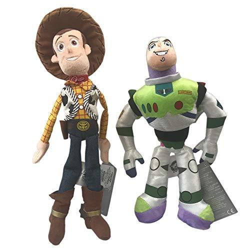 (Preis Spielzeug Buzz Lightyear und Woody Soft-Spielzeug-Puppe Set-Disney Toy Story Mini Bohne Sammlung (Buzz/Woody))