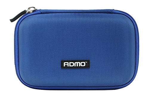 "ADMO 2.5"" Hard Drive Disk EVA Case Bag ,HDD Protective Zipper Carrying Shell Case Cover Bag for 2.5 Inch Portable External Hard Drive Blue"