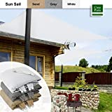 Casa Pura®–Garten Schatten, Sonnensegel Vordach, Rechteck, 3x 3m, Weiß