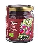 Wilde Bio-Cranberry Pulver von LOOV: 100 g, reich an Antioxidantien und pflanzlichen Nährstoffen, nur aus Beerenschalen und Samen, ohne Zuckerzusatz, ohne Zusatzstoffe, Vorrat für 20 Tage, aus Wäldern gesammelt, Superfood