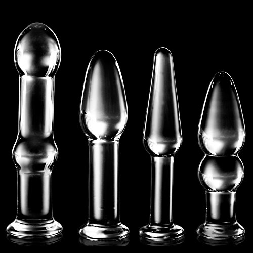 *Tracy's Dog Analplug Set Glasdildo Multi Size Anal ButtPlug Glas Analdildo (Transparent)*