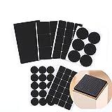 Elandy 1SET (pezzi) nero multifunzionale ispessimento antiscivolo resistente pellicola adesiva per mobili pavimento di gomma imbottito per mobili in legno e superfici dure