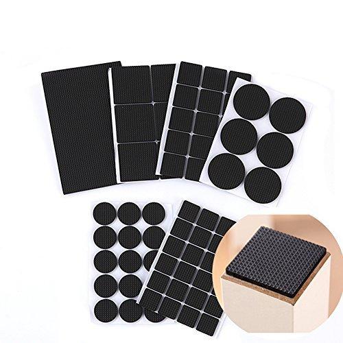 1Set (7) schwarz Multifunktionale Haarverdichtung rutschfest strapazierfähigen selbstklebend Möbel Boden Schutz Gummi Pads für Holz Möbel und harte Oberflächen (Ecke Schrank Möbel Verwendet)