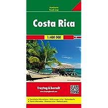 Costa Rica, mapa de carreteras. Escala 1:400.000. Freytag & Berndt. (Auto karte)